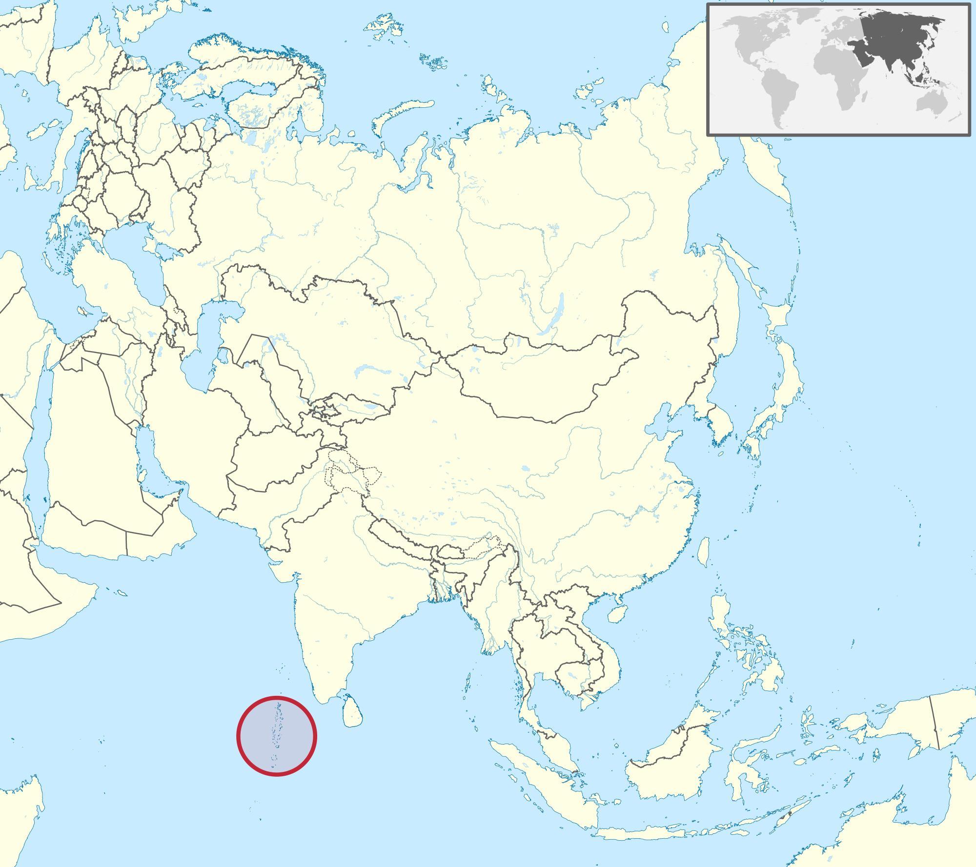 جزر المالديف خريطة آسيا خريطة جزر المالديف خريطة آسيا جنوب شرق آسيا آسيا