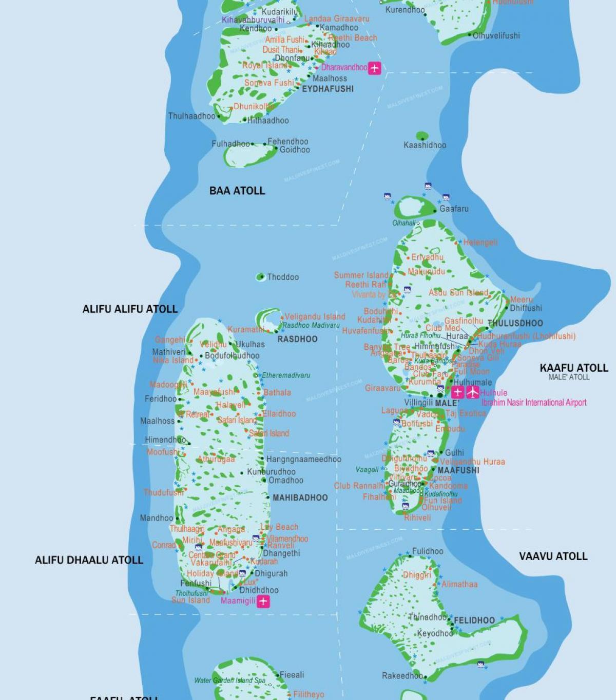 جزر المالديف مطار خريطة جزر المالديف المطارات خريطة جنوب آسيا آسيا