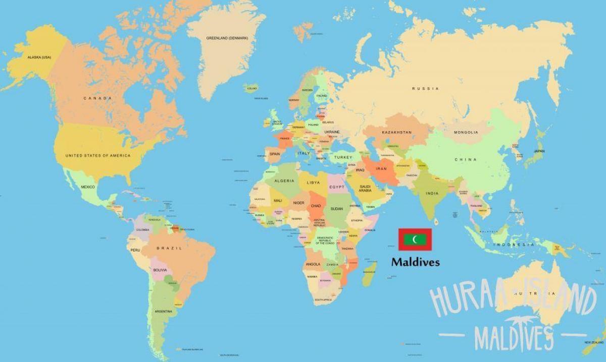 جزر المالديف مكان في خريطة العالم خريطة جزر المالديف في خريطة العالم جنوب آسيا آسيا