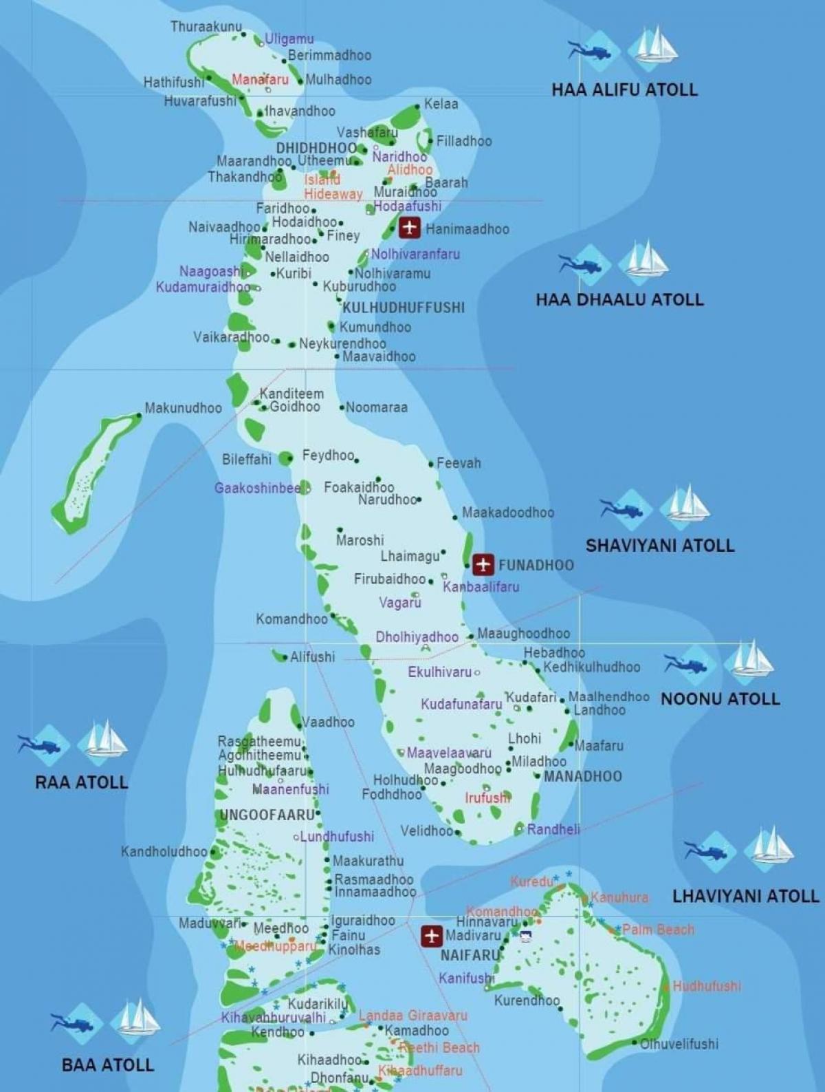 شاطئ جزر المالديف خريطة خريطة شاطئ جزر المالديف جنوب آسيا آسيا